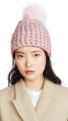 Mischa Lampert Deep Beanie Hat Dusty Rose
