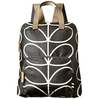 Orla Kiely Matt Laminated Giant Stem Print Backpack Liquorice