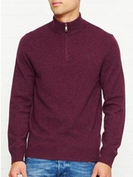 Hackett Zip Front Jumper Berry
