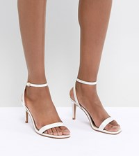 Asos Design Half Time Bridal Barely There Heeled Sandals Cream