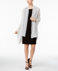 Inc International Concepts Embellished Lines Wrap Created For Macy's Silver