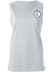 Etre Cecile Etre Cecile Sad Face Patch Tank Top Grey