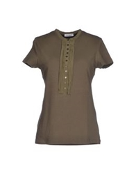 Kangra Cashmere T Shirts Military Green