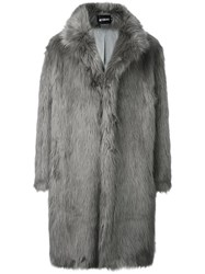 Misbhv Fur Effect Coat Grey