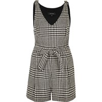 River Island Womens Black And White Dogtooth Print Playsuit