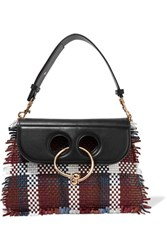 J.W.Anderson Pierce Medium Woven Leather Shoulder Bag Black