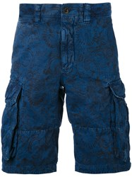 Incotex Cargo Shorts Men Cotton Linen Flax 36 Blue