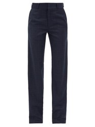 Vetements Checked Trousers Navy