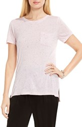 Vince Camuto Women's Two By Jersey One Pocket Tee Pale Dahlia