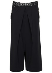 High Dither Black Wide Leg Culottes