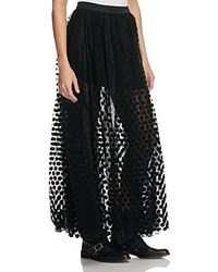 Free People Dreaming Of You Maxi Tutu Skirt Black