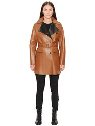 Belstaff Dyed Nappa Leather Trench Coat