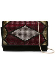 Giorgio Armani Embellished Clutch Black