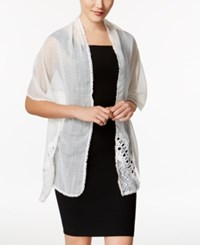Inc International Concepts Asymmetrical Lace Wrap Only At Macy's White