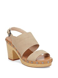 French Connection Colette Suede Platform Sandals Hazelwood