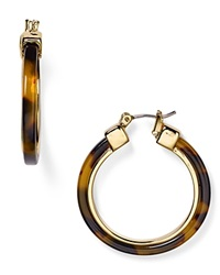 Lauren Ralph Lauren Faux Tortoise Shell Hoop Earrings Brown