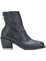 Guidi Rear Zip Ankle Boots Blue