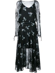 Preen By Thornton Bregazzi Constellation Print Dress Black