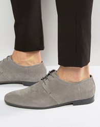 Hugo By Boss Paris Suede Derby Shoes Grey