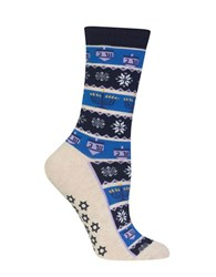 Hot Sox Hanukkah Striped Socks Navy Blue