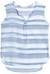 Kain Label Striped Cotton Gauze Top Azure