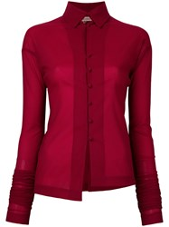Romeo Gigli Vintage Elongated Sleeves Shirt Red