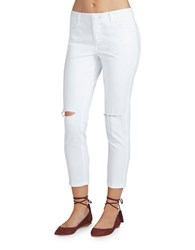 Democracy Missy Distressed Mid Rise Jeans White