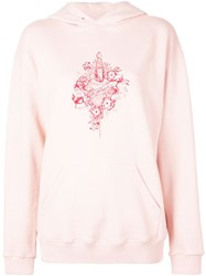 Givenchy Graphic Print Hooded Sweatshirt Pink