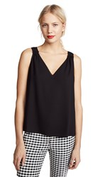 Cooper And Ella Ivy Double V Tank Black