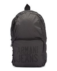 Armani Jeans Grey Canvas Foldable Backpack