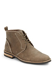 Original Penguin Merle Leather Lace Up Boots Shitake