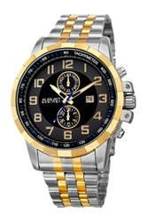 August Steiner Men's Swiss Quartz Multifunction Bracelet Watch Metallic