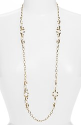 Women's Kate Spade New York 'Mod Moment' Station Necklace White