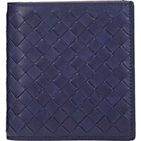 Bottega Veneta Men's Intrecciato Billfold Navy