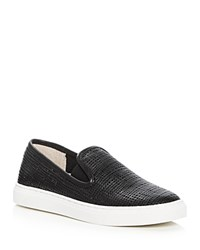 Vince Camuto Becker Embossed Slip On Sneakers Black