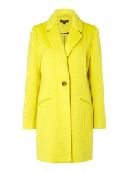 Therapy Thalia Textured Boyfriend Coat Yellow