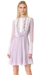 Giambattista Valli Long Sleeve Dress Lilac
