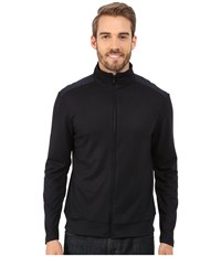 Kenneth Cole Sportswear Long Sleeve Full Zip Mock Dark Ocean Men's Sweater Blue