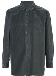 Casey Casey Textured Buttoned Shirt Grey
