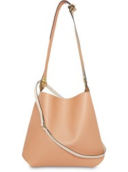 Burberry The Leather Grommet Detail Bag Neutrals