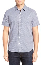 Jack Spade Men's Trim Fit Zigzag Dobby Sport Shirt