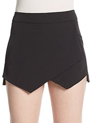 Saks Fifth Avenue Red Asymmetrical Front Skort Black
