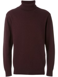 Soulland 'Rhodes' Turtleneck Sweater Red