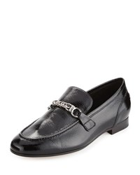 Rag And Bone Cooper Patent Chain Loafer Black Black Patent