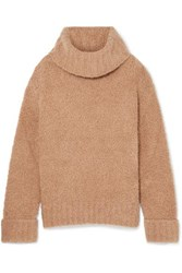 Adam By Adam Lippes Merino Wool Blend Turtleneck Sweater Camel