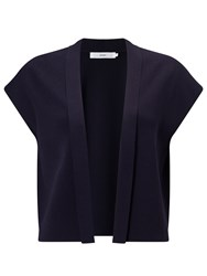 John Lewis Short Sleeve Knitted Jacket Navy