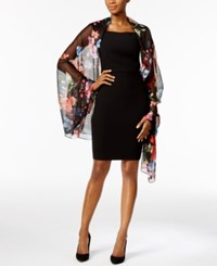 Inc International Concepts Floral Evening Wrap Only At Macy's Black