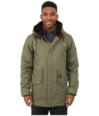 Obey Ransack Parka Jacket Light Army Men's Coat Green