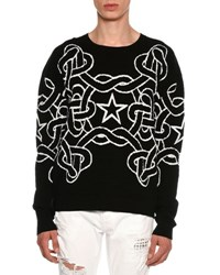 Just Cavalli Rope And Star Knit Sweater Black