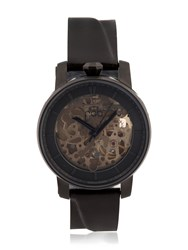 Fob Paris Rehab 360 Watch With Black Leather Band